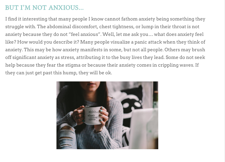 Blog Post about Anxiety